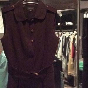 Brown Tahari dress, sleeveless, size 4, tortoise
